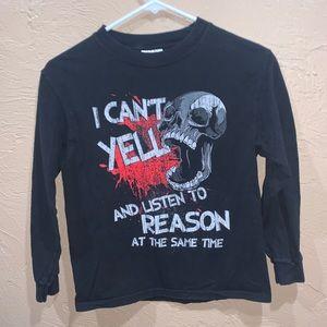 Vintage Kids Long Sleeve Skull Shirt